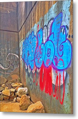 Blue Wall Metal Print by Andrew Martin