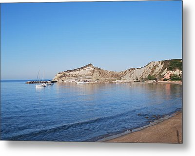 Metal Print featuring the photograph Blue Water by George Katechis