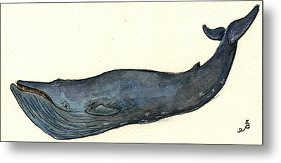Blue Whale Metal Print by Juan  Bosco