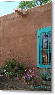 Metal Print featuring the photograph Blue Window by Sylvia Thornton