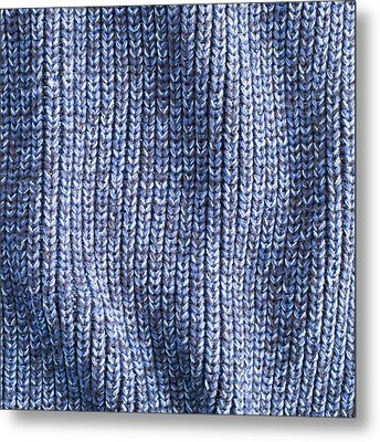 Blue Wool Metal Print by Tom Gowanlock