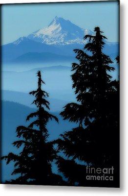 Blue Yonder Mountain Metal Print