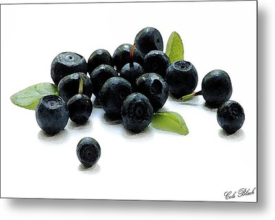 Blueberries Metal Print by Cole Black