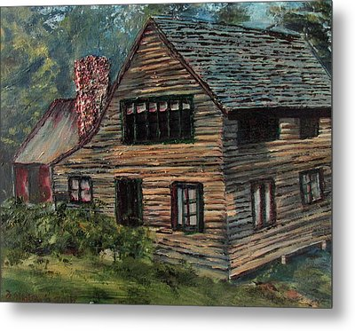 Blueberry Cottage At Twin Lake Village Metal Print by Denny Morreale