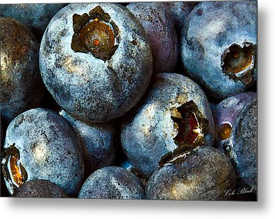 Blueberry Detail Metal Print by Cole Black