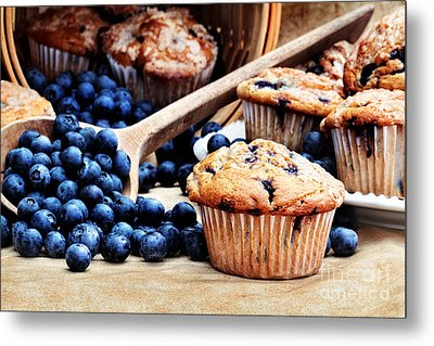 Blueberry Muffins Metal Print by Stephanie Frey