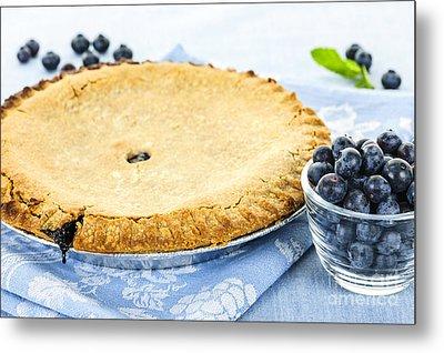 Blueberry Pie Metal Print by Elena Elisseeva