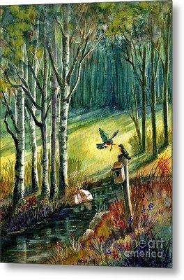 Bluebird Meadow Metal Print by Marilyn Smith