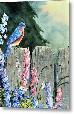 Bluebird Morning Metal Print