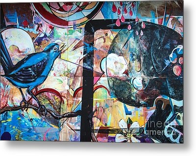 Bluebird Sings Metal Print by Terry Rowe