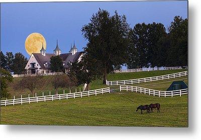 Bluegrass Moonrise Metal Print by Alexey Stiop