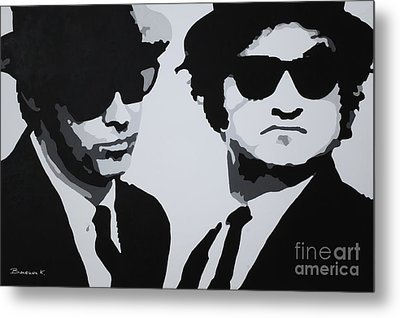 Blues Brothers Metal Print by Katharina Filus