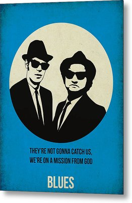 Blues Brothers Poster Metal Print by Naxart Studio