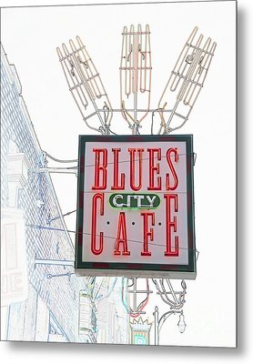 Blues City Cafe Sign Metal Print