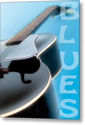 Blues Guitar Metal Print by David and Carol Kelly