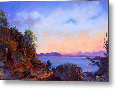 Metal Print featuring the pastel Bluff by Susan Will