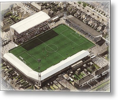 Blundell Park - Grimsby Town Metal Print by Kevin Fletcher
