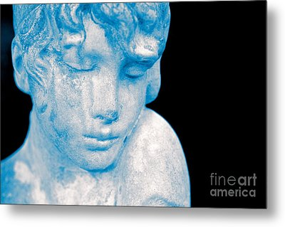 Blush Blue Metal Print by Cathy Dee Janes