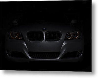 Bmw Car In Black Background Metal Print