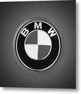 Bmw Emblem -0460bw Metal Print
