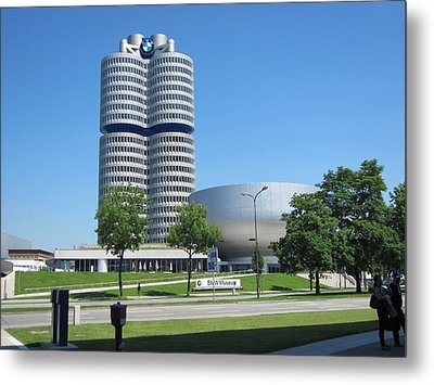 Metal Print featuring the photograph Bmw Head Quaters by Pema Hou