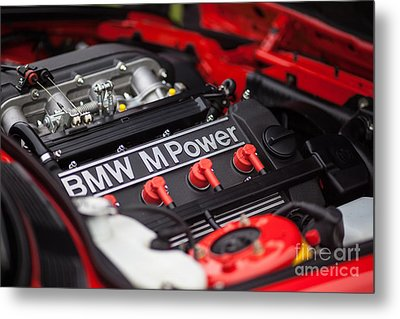Bmw M Power Metal Print by Mike Reid