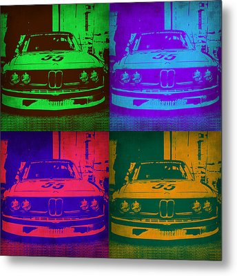 Bmw Racing Pop Art 1 Metal Print