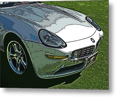 Bmw Z8 Nose Study Metal Print