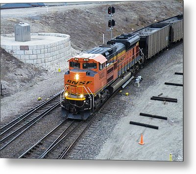 Bnsf Kc Rail Yards Metal Print by The GYPSY And DEBBIE