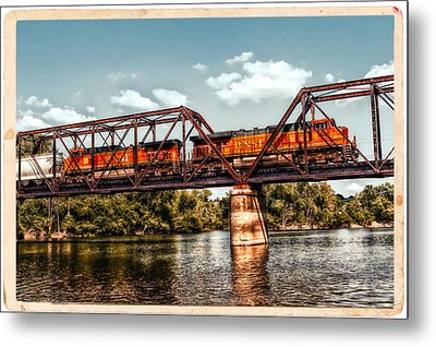 Bnsf Over The Meramec Metal Print