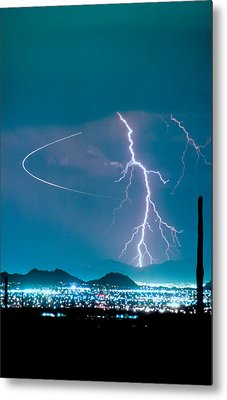 Bo Trek The Lightning Man Metal Print