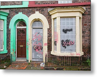 Boarded Up Houses Metal Print by Ashley Cooper