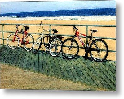 Boardwalk Bikes Metal Print by RC deWinter