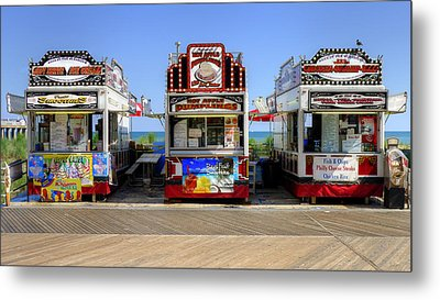 Metal Print featuring the photograph Boardwalk Dining by Glenn DiPaola