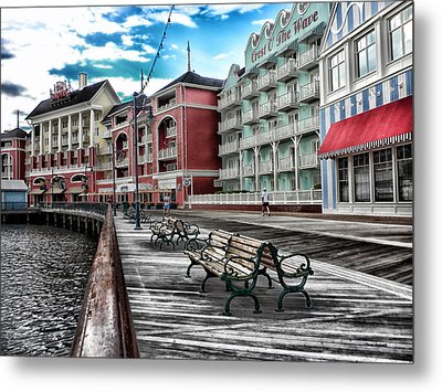 Boardwalk Early Morning Metal Print by Thomas Woolworth