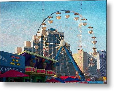 Boardwalk Ferris  Metal Print by Alice Gipson