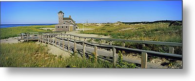 Boardwalk Leading Towards Old Harbor Metal Print by Panoramic Images