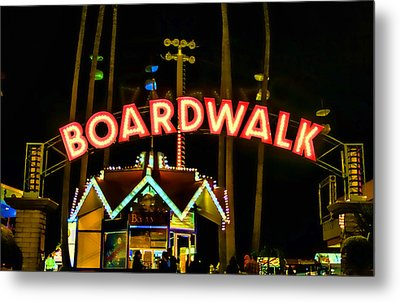 Boardwalk Metal Print by Digital Kulprits