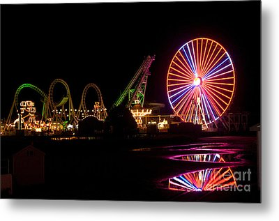 Metal Print featuring the photograph Boardwalk Night by Greg Graham