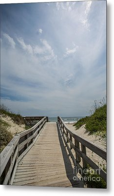 Boardwalk To The Beach Metal Print by Kay Pickens