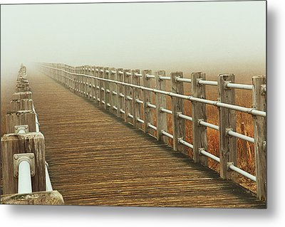 Boardwalk To The Unknown Metal Print by Karol Livote