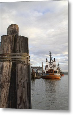 View From The Pilings Metal Print by Suzy Piatt