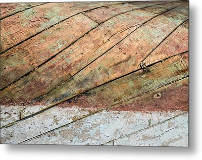 Boat Belly Up Metal Print
