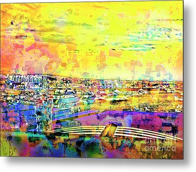 Boat Harbor Metal Print