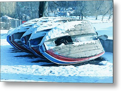 Boat Hire On Holiday Metal Print by Jutta Maria Pusl