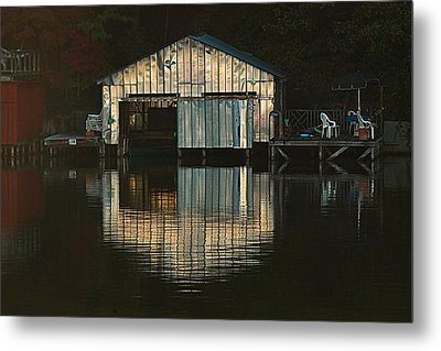 Boat House Effects Metal Print by Tammy Schneider
