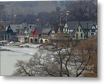 Philadelphia's Boat House Row  Metal Print by Cindy Manero