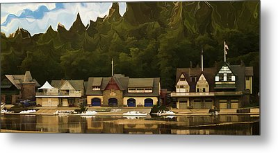 Boat House Row Metal Print
