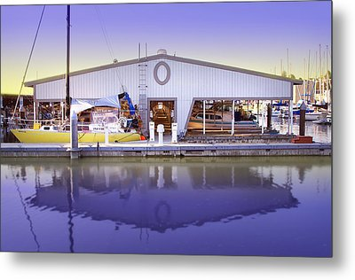 Metal Print featuring the photograph Boat House by Sonya Lang