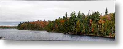Boat In Canoe Lake, Algonquin Metal Print by Panoramic Images